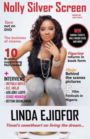 Linda Ejiofor is July's cover girl for Nolly Silver Screen magazine