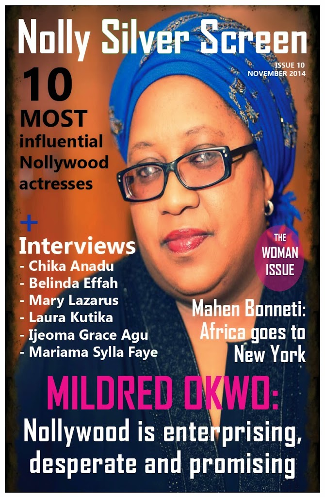 Mildred Okwo shines on the cover of Nolly Silver Screen woman issue