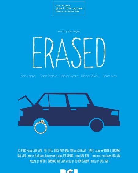 "Another Nigerian Short Film ""Erased"" to be showcased at Cannes Film Festival 2016!"