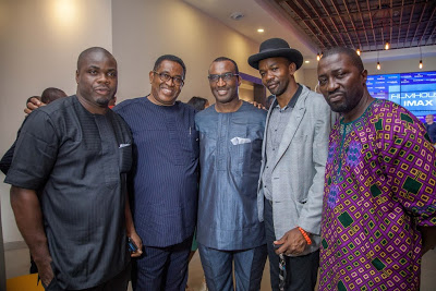 Patrick Doyle, CEO FilmHouse Cinemas; Kene Mkparu and Kingsley Ogoro