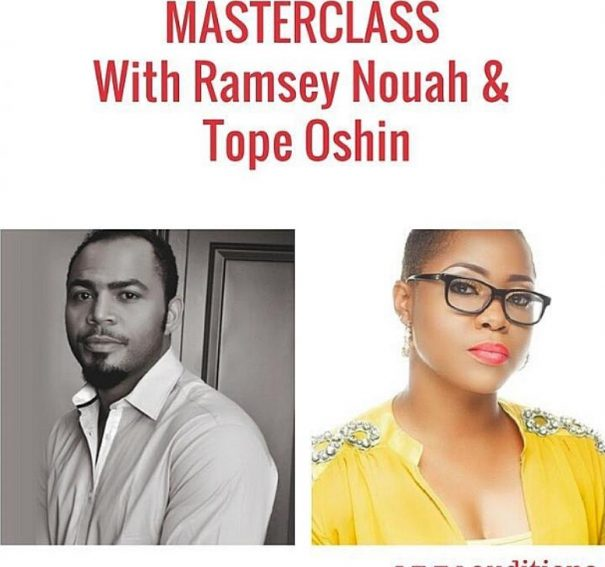 7 Lessons from the Auditions.ng Masterclass with Ramsey Nouah & Tope Oshin!