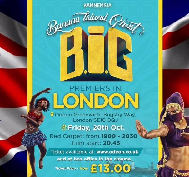 'Banana Island Ghost' Prepares For Premiere In London!