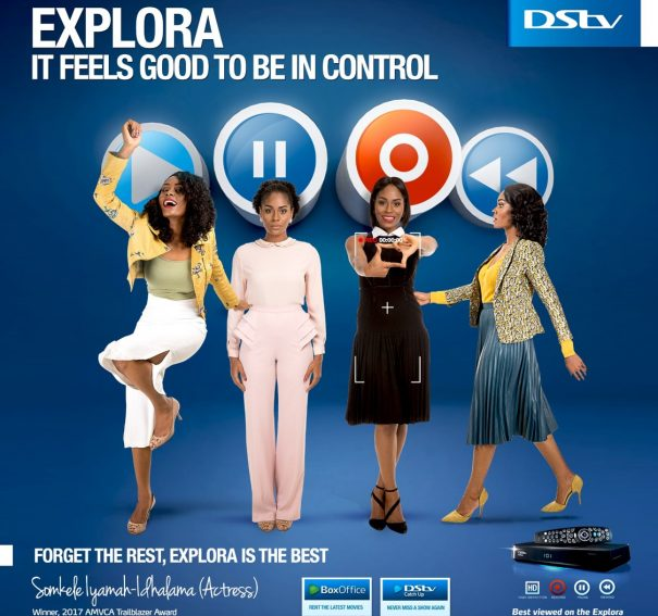 Somkele Becomes DStv Explora 2 Ambassador, stars in new Commercial!