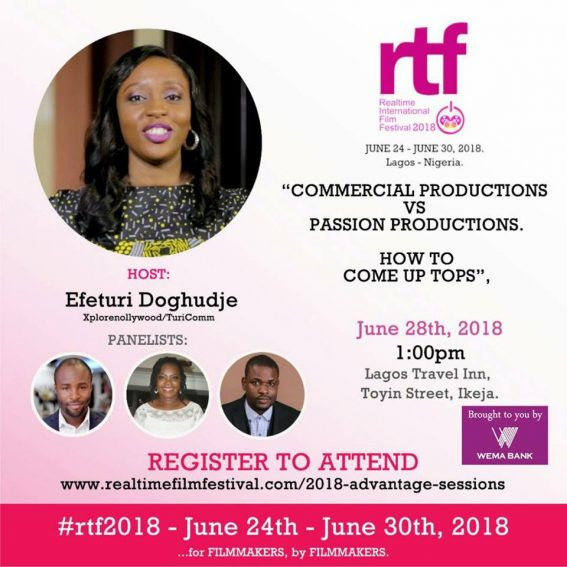 Xplorenollywood set to host panel session at the 2018 Real-Time Film Festival