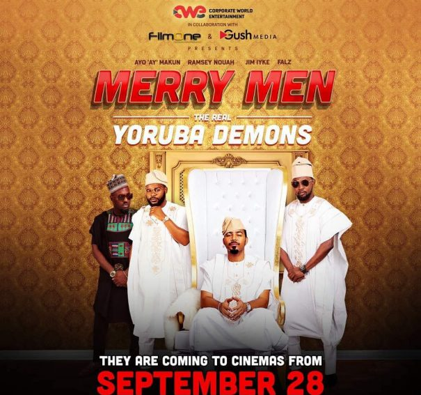 "AY Makun announces September release of ""MERRY MEN- The Real Yoruba Demons"" featuring Jim Iyke, Ramsey Nouah"