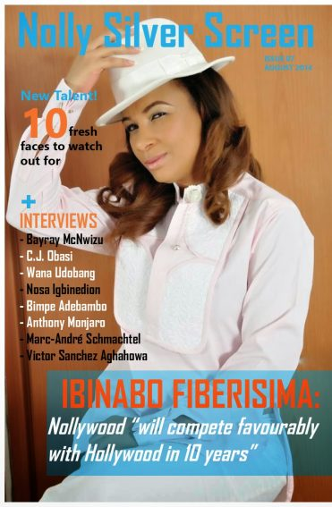 Ibinabo Fiberisima and Bayray McNwizu cover August edition of Nolly Silver Screen