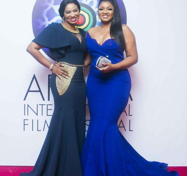 Omotola Jalade, Kate Henshaw, Ramsey Nouah, other stars turn up for #AFRIFF2017 Globe Awards!