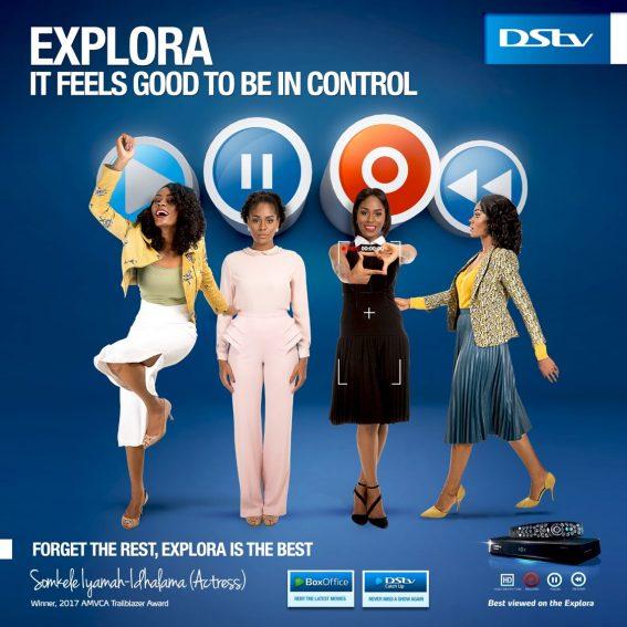 Somkele Becomes DStv Explora 2 Ambassador, stars in new Commercial!