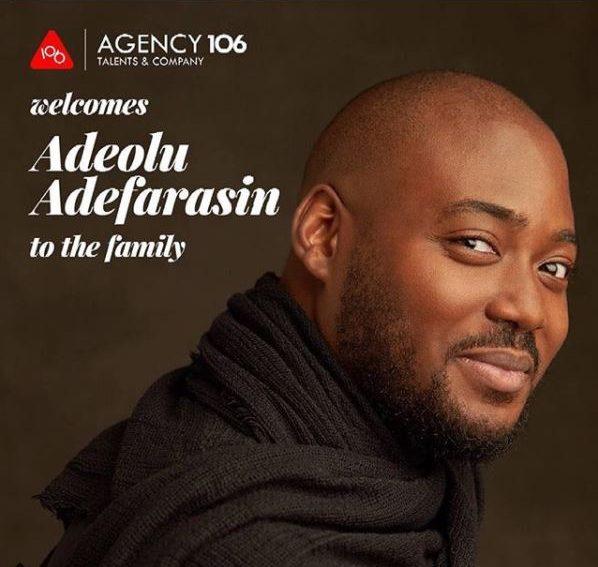 Isioma Osaje signs Adelolu Adefarasin to Agency 106!